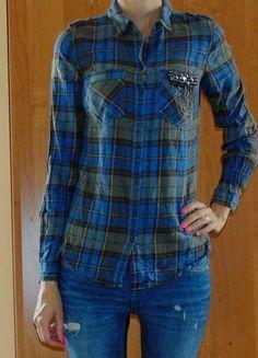 Kup mój przedmiot na #vintedpl http://www.vinted.pl/damska-odziez/koszule/14787619-koszula-reserved-kratka-krata-aplikacja-kieszen-lancuszki-ozdobna-xs-34
