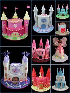 Castle birthday cakes thisaudrey