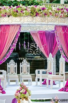 Mauve, Lavender & Candy Pink go well with this Pearl Mandap Wedding Canopy, Wedding Mandap, Wedding Stage, Wedding Receptions, Purple Wedding, Floral Wedding, Dream Wedding, Indian Wedding Decorations, Reception Decorations