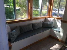Builtin  porch storage bench