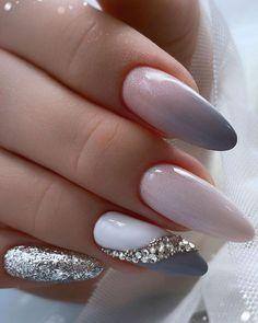 Pink Manicure, Glam Nails, Fun Nails, Glitter Nails, Beauty Nails, Bridal Nails, Wedding Nails, Wedding Bride, Stylish Nails