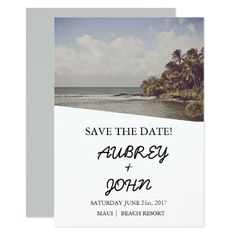 Cruise Ship Save the Date Save the Date Tropical Destination Beach Wedding Card