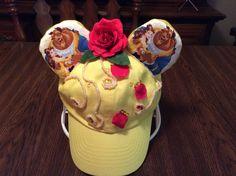 Belle ears hat Disney Ears Hat, Mickey Mouse Ears Hat, Mouse Ears Headband, Ear Headbands, Ear Hats, Inspired