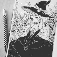 4. #inktober Garden Witch Sorry for repost! >