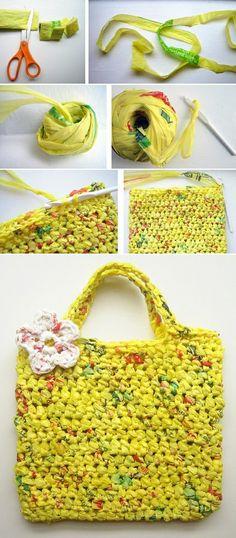 Bolsa resistente de sacolinhas plàsticas!  Acompanhe o Passo a passo de outro modelo também >> http://www.setorreciclagem.com.br/modules.php?name=News=print=1115