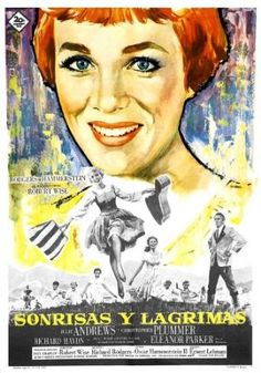 The Sound of Music Movie Poster (1965) Spanish Style B -(Julie Andrews)(Christopher Plummer)(Eleanor Parker)(Peggy Wood)(Charmian Carr)(Heather Menzies)