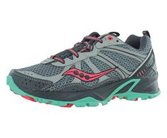 Saucony Womens Excursion TR8 Trail Running ShoeGreyCoralMint11 M US *** You can get additional details at the image link.