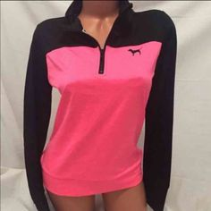 NEW ultimate vs pink half zip size small Brand new without tags PINK Victoria's Secret Sweaters V-Necks