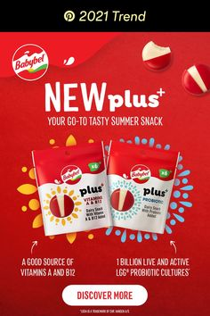 Get more from your snack with Babybel plus+. It's got the same great taste as Mini Babybel cheese, and is a good source of protein and calcium. It's delicious, it's creamy, it's your new go-to summer snack. Tap the Pin, and discover more. Summer Snacks, Easy Snacks, Babybel Cheese, Matcha, 21 Day Meal Plan, Slime Vids, Types Of Cheese, Good Sources Of Protein, Tasty