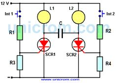 Luz intermitente manual con SCR                                                                                                                                                                                 Más