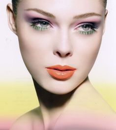 Makeup...Love the ORANGE lips!