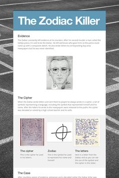 the elusive zodiac killer essay An upstate new yorker claims his best buddy was the notorious zodiac killer while the man survived and gave cops one of their only descriptions of the elusive a time period during which the zodiac, who frequently sent letters and codes to newspapers and cops, sent.