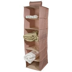 Six Shelf Hanging Closet Organizer (Grey)