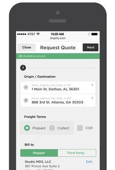 Request Quote Mobile App User Interface Design #UI