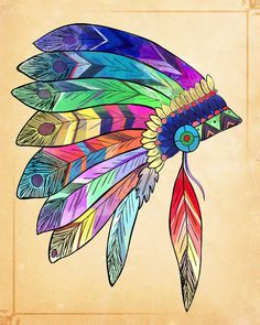 Hermoso moderno tribales indoamericanas pluma por indigoSAGEdesign