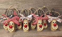 Items similar to Set of 8 Cork Decorations Reindeer Ornaments Wine Ornaments Wine Christmas Candy Box Gift Wine Cookie Swap Favors on Etsy Christmas Party Favors, Christmas Crafts To Make, Handmade Christmas Decorations, Christmas Ornament Crafts, Christmas Wine, Holiday Crafts, Reindeer Ornaments, Etsy Christmas, Christmas Trees