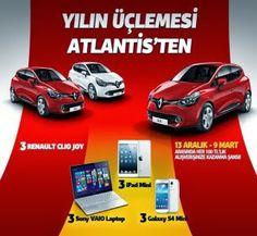 Atlantis AVM Çekiliş Kampanyası - Atlantis AVM Renault Clio Çekilişi http://www.kampanya-tv.com/2014/01/atlantis-avm-cekilis-kampanyasi-atlantis-avm-renault-clio-cekilisi.html