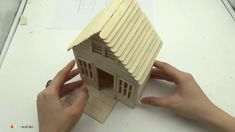 How to make a Popsicle Stick House - Mini House in the Forest