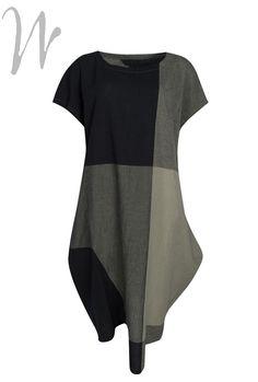 #Dress by #Japanese #designer #Moyuru large oversized #checks. #fashion #style #creative.