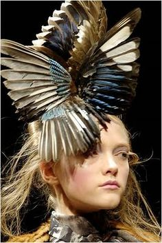 alexander mcqueen - I will definitely NEED this fascinator for my official duties.