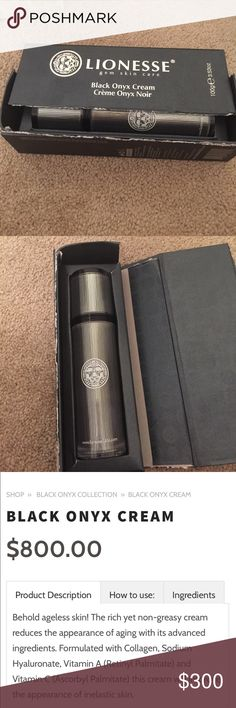 Lionesse gem skin care Brand new never used original box is damaged black onyx cream Lionesse Makeup
