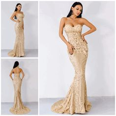 2345e86354514c Infinite Dreams Gold Glitter Strapless Maxi Dress