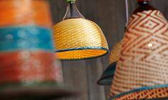 handmade South American lampshades