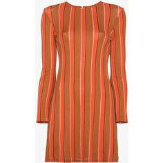 Simon Miller  Striped longsleeved tunic ($630) ❤ liked on Polyvore featuring tops, tunics, summer tunics, long sleeve tunic, simon miller, stripe top and long sleeve tops