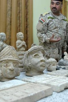 Iraqi security forces uncovered hundreds of historical artifacts during two raids in northern Basra Dec. 16.  The 228 ancient artifacts included Sumerian and Babylonian sculpture, gold jewelry and other items from ancient Mesopotamia.