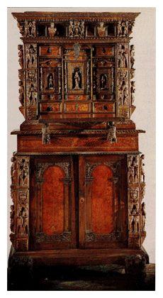 Mobili antichi scrivanie e scrittoi antica scrivania con for Stili mobili antichi