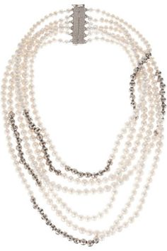 Rosantica Palladium-Plated Freshwater Pearl Necklace