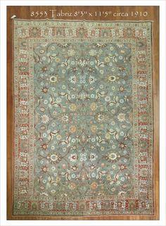 """Tabriz  Rug Number: 8553 Size: 8'3"""" x 11'5""""   Rugs R Us Online,"""