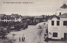 The Public Gardens and Bank Mombasa 1900s
