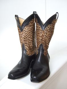 Custom Made Animal print cowgirl boots by Leroux Territory 66, CustomMade.com
