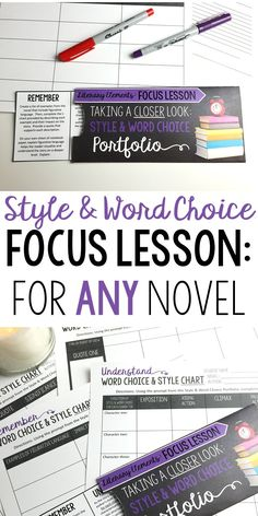 Focus Lesson | Style and word choice | Perfect for any novel or short story | Grades 6-12