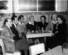 "EH04967P Ernest and Mary Hemingway with Friends at La Florida (""Floridita""), Havana, Cuba, circa 1950s."