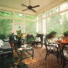 The Perfect Screened Porch - photo via Home Plan Ideas