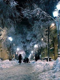 Winter In Saint Petersburg, Russia