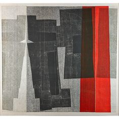 Louise Nevelson, Untitled, 1967; Lithograph on cheese cloth