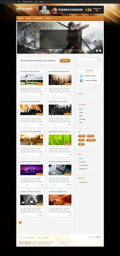 Informer Blog WordPress Theme Wordpress Theme, Blog, Blogging