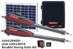 Opener Systems 85898: Liftmaster La412pkgu Dual Solar Swing Gate Operator Package La 412 -> BUY IT NOW ONLY: $1411.2 on eBay!