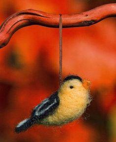 How to needle felt a bird