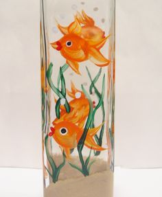 painted glass oil and vinegar - Google Search