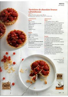 Revista Bimby Março 2015 Gluten Free Recipes, Healthy Recipes, Secret Recipe, Chocolate, Coffee Break, Free Food, Make It Simple, Dairy Free, Raspberry
