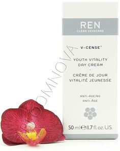 REN V-Cense Youth Vitality Day Cream 50ml - A multi-active day moisturiser that prevents and minimizes the signs of premature ageing. #REN #skincare #beauty #daycream #moisturiser