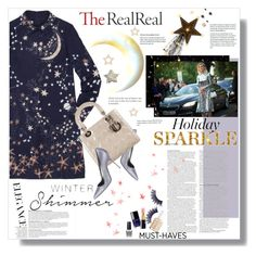 """""""Holiday Sparkle With The RealReal: Contest Entry"""" by meyli-meyli ❤ liked on Polyvore featuring Valentino, Manolo Blahnik, Christian Dior, Anja, ASOS, Chanel, Essie, Manic Panic and OPI"""
