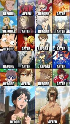 Before / After in Anime   via [Fairy Tail] page