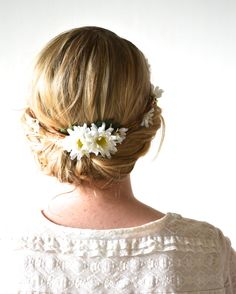 Daisy wedding headpiece