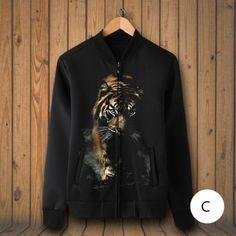 199efe252eed tiger baseball jacket animal face sweatshirt for guys plus size clothing