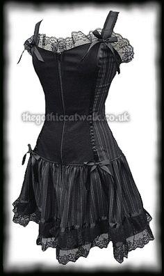 Black Pinstripe Tutu Dress